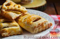 Фото к рецепту: Слойки с яблоками и корицей