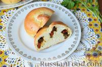 Фото к рецепту: Пирожки c черемшой и баклажанами