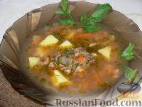 Фото к рецепту: Суп с килькой в томатном соусе