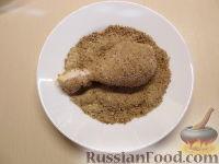 Фото приготовления рецепта: Куриные окорочка в панировке - шаг №4
