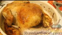 Фото приготовления рецепта: Курица, запеченная с яблоками и апельсинами - шаг №13