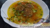 Фото к рецепту: Постный суп с фрикадельками
