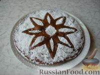 Фото к рецепту: Постный пирог с кофе и черносливом
