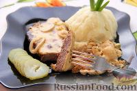 Фото к рецепту: Бифштекс из маринованной телятины