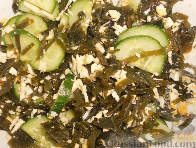 морской салат с сухариками рецепт