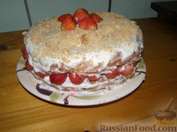 """Фото к рецепту: Торт """"Наслаждение"""""""