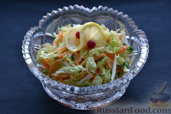 рецепты салатов из пекинской капусты и моркови