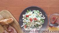 """Фото приготовления рецепта: Салат """"Цезарь"""" с курицей - шаг №4"""