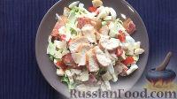"""Фото приготовления рецепта: Салат """"Цезарь"""" с курицей - шаг №6"""