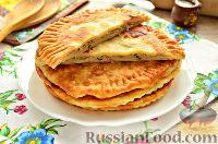 Фото к рецепту: Лепешки с мясной начинкой и зеленью