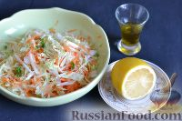 Фото приготовления рецепта: Салат из пекинской капусты с яблоком и морковью - шаг №9