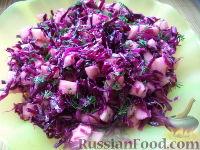Фото к рецепту: Салат из красной капусты с яблоками