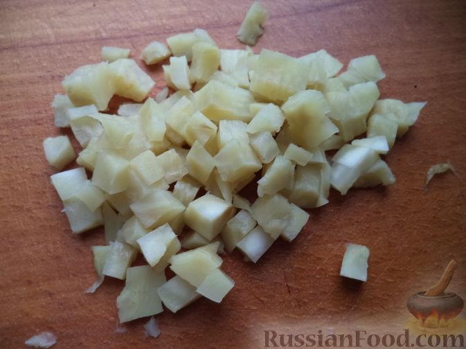 """Фото приготовления рецепта: Вегетарианский оливье """"Любимый"""" - шаг №4"""