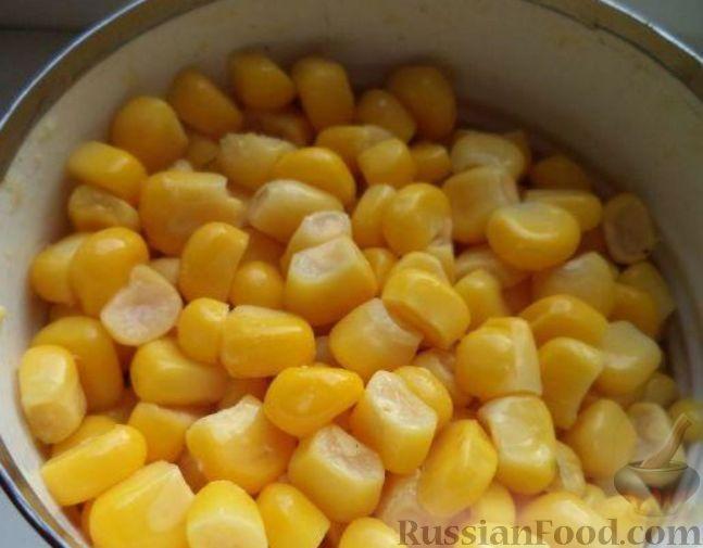 салат с консервированной кукурузой рецепт простой рецепт