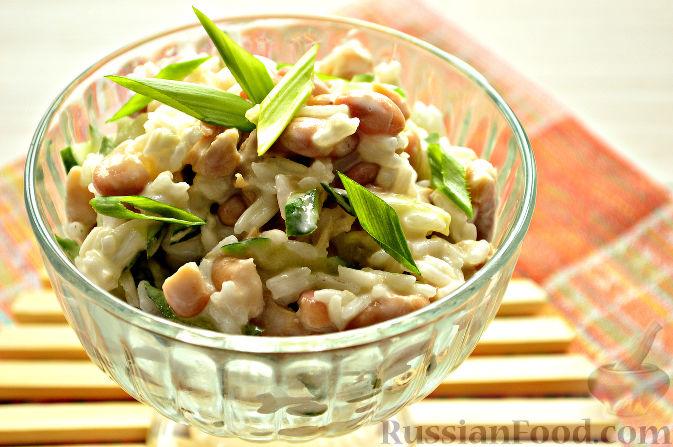 рецепт салата из кальмаров с фото