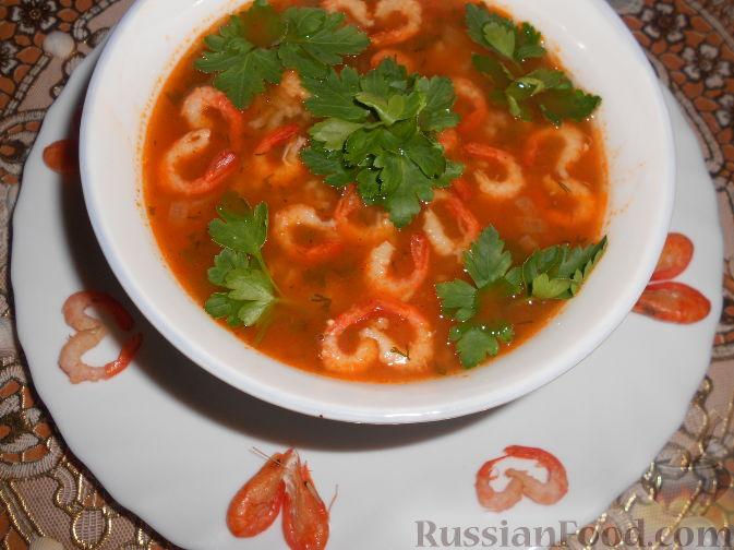 рецепт тайский суп креветки лук парей сливки