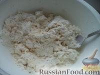 Фото приготовления рецепта: Тесто бездрожжевое на сметане (для лепешек) - шаг №5