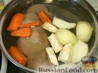 Фото приготовления рецепта: Говяжий язык отварной - шаг №4