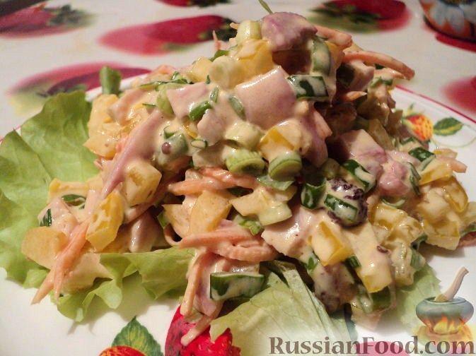 салат петергоф рецепт с курицей