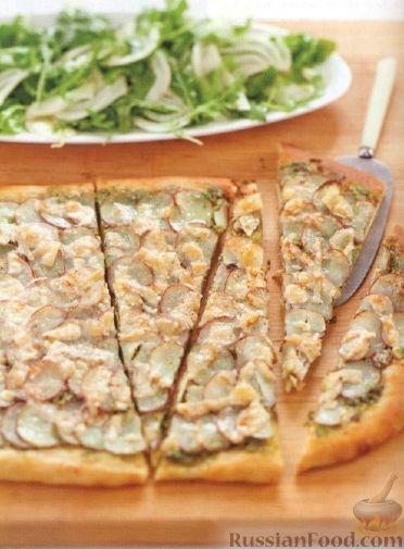 Рецепт Картофельная пицца с зеленым салатом