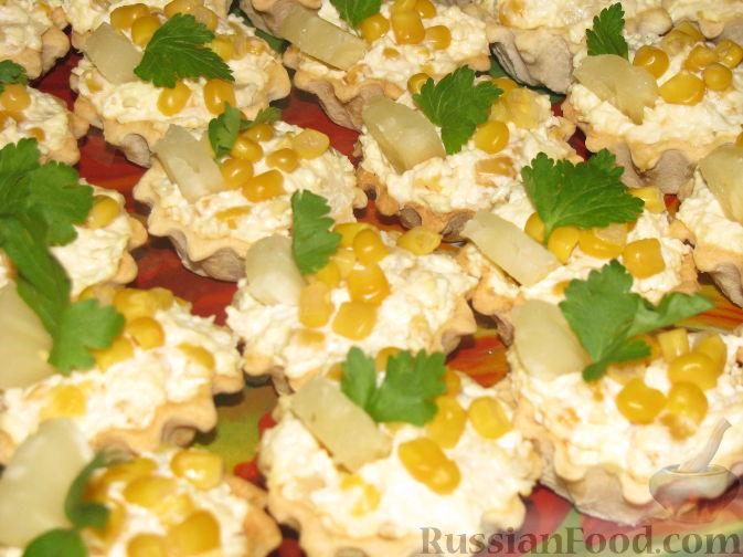 Рецепт салатов с плавленным сыром и кукурузой
