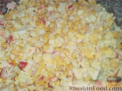 салат камчатский рецепт с крабовыми