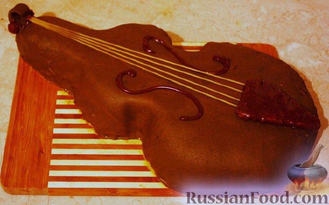 """Рецепт Торт """"Скрипка"""" для любимого мужа"""