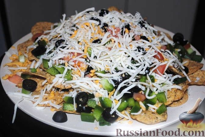 Рецепт Мексиканская закуска или чипсы Начос