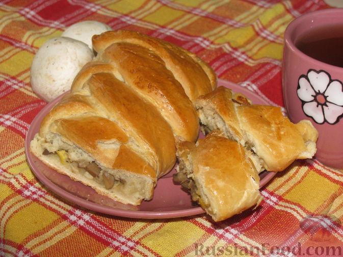 Рецепт Пирог с грибами и яйцом