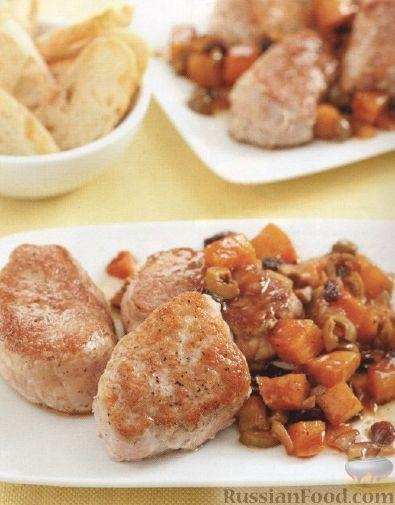 Рецепт Свиные медальоны со свекольной сальсой