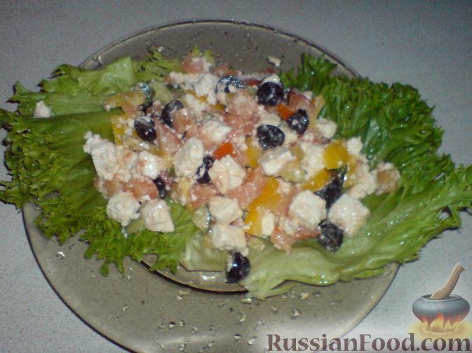 рецепт на греческий салат калорийность
