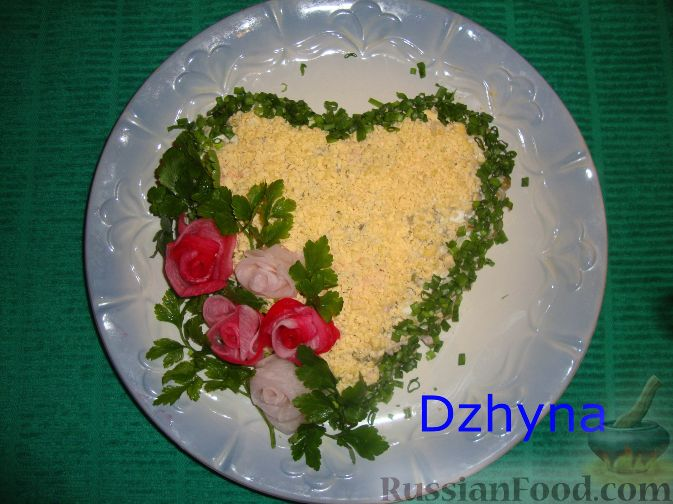 "Рецепт Салат ""Валентинка"""