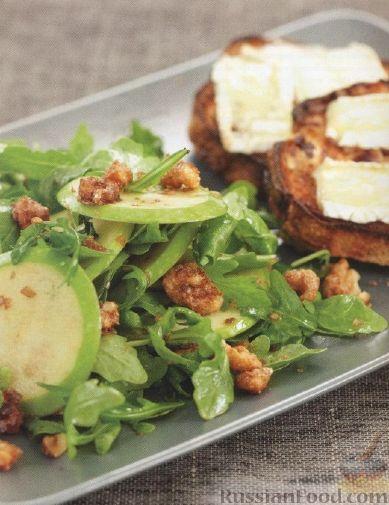 Рецепт Салат из яблок, рукколы и грецких орехов