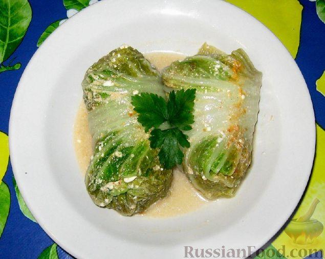 Рецепт Голубцы в листьях пекинской капусты