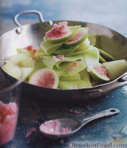 Рецепт Экзотический салат из манго и инжира