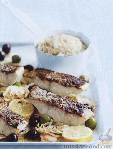 рецепт морской окунь в сливках в духовке