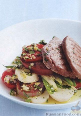 Рецепт Салат из картофеля, помидоров и стручковой фасоли