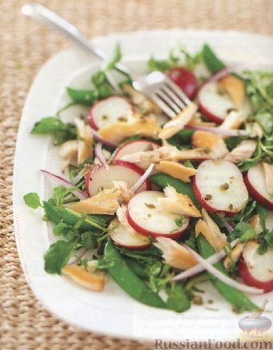 Рецепт Картофельный салат с форелью