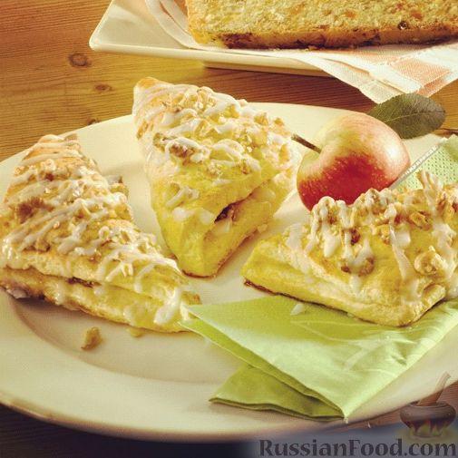 Рецепт Конвертики с яблоками и грецкими орехами