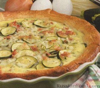 Рецепт Открытый пирог с цуккини и сыром