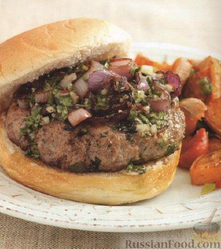 Рецепт Гамбургер с луком