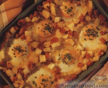 Рецепт Картофельная запеканка с яйцами