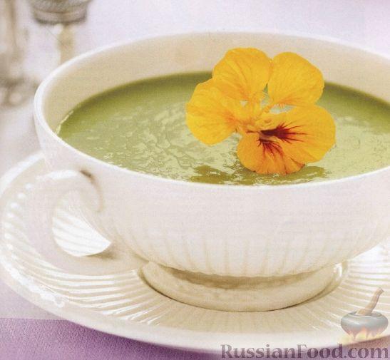 Рецепт Суп-пюре с зеленым горошком и мятой