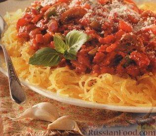 Рецепт Спагетти из тыквы с томатным соусом