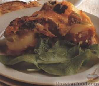 Рецепт Картофельная запеканка с копчеными колбасками