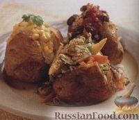 Фото к рецепту: Печеный картофель с тремя чудо-начинками