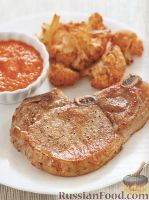 Фото к рецепту: Жареная свинина с цветной капустой и миндальным соусом