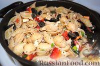 Фото к рецепту: Греческий салат из пасты (макарон)