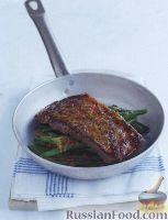 Фото к рецепту: Говяжьи стейки с ароматным сливочным маслом и стручковой фасолью