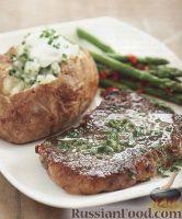 Фото к рецепту: Печеный картофель со стейками